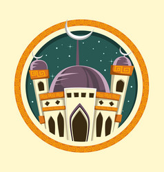 Mosque-round-cover vector