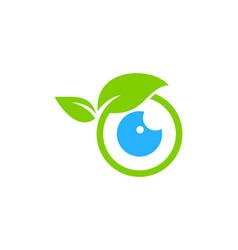 nature eye logo icon design vector image