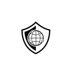 network security icon flat design vector image