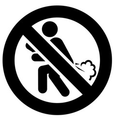 No farting forbidden sign modern round sticker vector