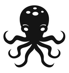 octopus icon simple style vector image