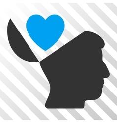 Open Mind Love Heart Icon vector