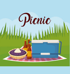 Picnic and food design vector