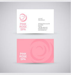 pink rose spa vector image