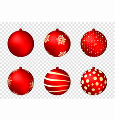 Realistic christmas balls isolated on transparent vector