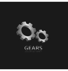 Silver Gears logo vector