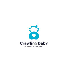 Simple and creative cute baby for logo baby vector