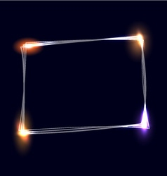 Sketchy frame with light effects vector