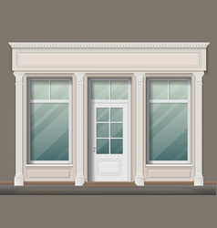 Store front with columns vector