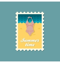 Swimsuit flat stamp vector