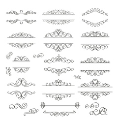 Swirls vintage design elements vector