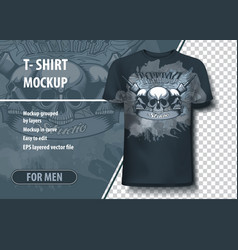 t-shirt mock-up template with tattoo studio vector image