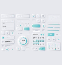 user interface elements for finance mobile app vector image