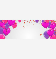valentines day background cute love banner or vector image