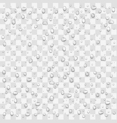 water drops set pure droplets on window vector image