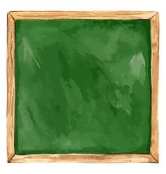 Watercolor green school board back to school vector