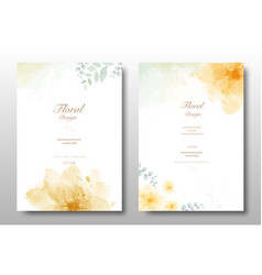 watercolor hand painted invitation card vector image