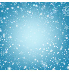 winter poster with snow and blue background vector image