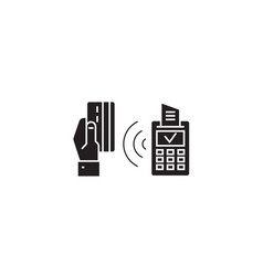 wireless payment black concept icon vector image
