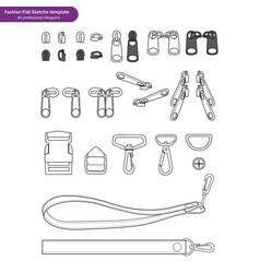 Zipper bag accessory vector