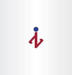 letter z or n man logo icon vector image