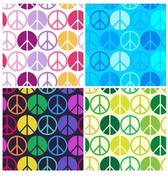 peace seamless pattern vector image vector image