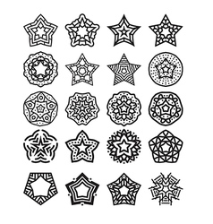 star set two vector image vector image