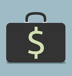 Briefcase with dollar sign vector image vector image