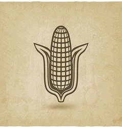corn symbol old background vector image vector image