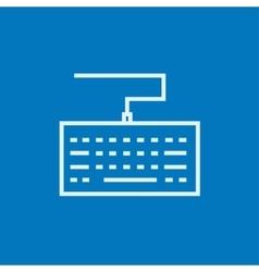 Keyboard line icon vector image vector image