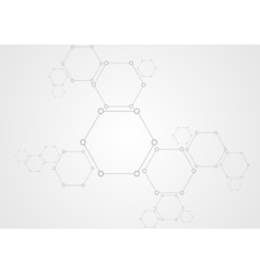 Molecular structure abstract tech background vector image vector image