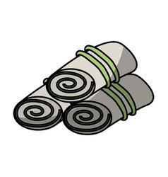 towels set spa icon vector image