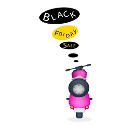 A Motorbike with Black Friday Sale Banner vector image vector image