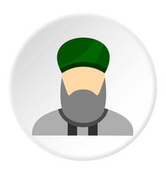 islamic priest icon circle vector image