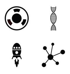 science icon set vector image vector image