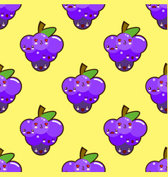 bunch of purple grapes seamless pattern with a vector image vector image