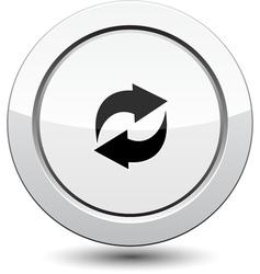 Button with Arrows Icon vector image vector image