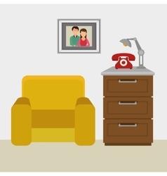 Living room interior vector image