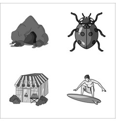 Mountain trade and other monochrome icon in vector