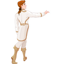 prince looks after the fleeing cinderella vector image