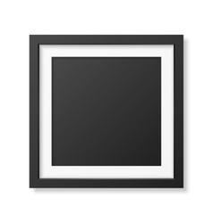 Realistic square black frame vector image