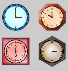 set of four clocks vector image