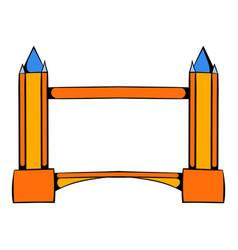 Tower bridge in london icon cartoon vector