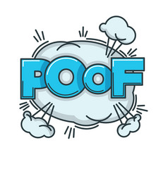 visualization of poof sound with big fluffy cloud vector image vector image