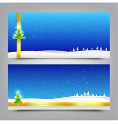 033 Merry Christmas banner Collection of greeting vector