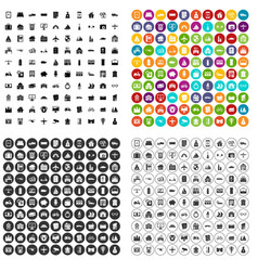 100 property icons set variant vector image