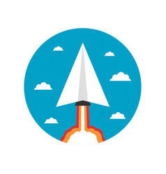 464paper plane launcher icon vector image