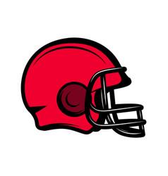 american football sport helmet isolated on white vector image
