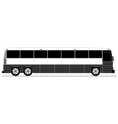 American typical country passenger bus vector