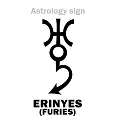 Astrology erinyes furies vector